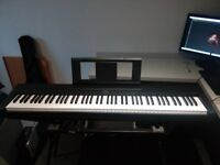Yamaha P45 Digital Piano + Sturdy Stand (full-weighted keys)