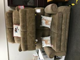 BHF - brown 2 seater sofas