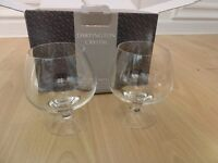 BNIB Handmade Dartington Crystal Rachael Brandy Glasses