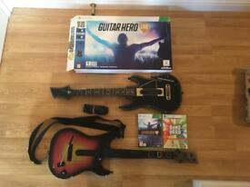 Guitar Hero Live With 2 Official Guitars and Band Hero Games For Xbox 360 £20 no offers