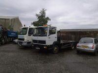 mercedes 7.5 tonne truck flat bed
