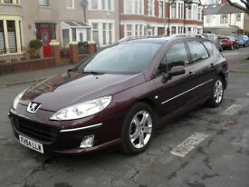2004 Peugeot 407 2.0 HDI estate new mot top spec