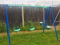 Double Swing Set with Slider