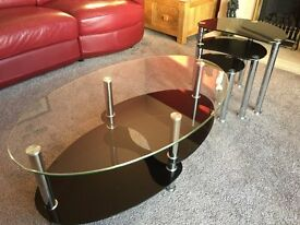 Glass Coffee Table & Nest of Tables