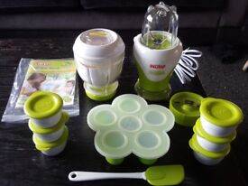 Baby food blender by Nuby with freezer pots + extras