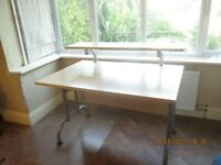 Two Tier Beech Desk - nice condition. 2nd level for printer, reference files etc.