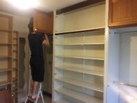 Fitted wardrobes, removed from bedroom.