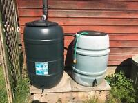 Rain water barrels and system