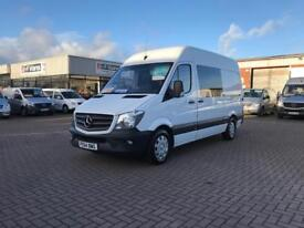 2015 Mercedes sprinter 313cdi mwb high roof 6 seat crew van £14995 or £72 p/w j&ft&v mallusk