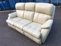 Excellent condition leather sofa recliner can deliver