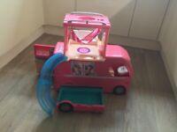 Barbie Pink Camper Van Very Good Condition
