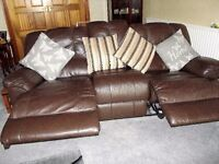 Two leather recliner sofa's, very comfy and in good condition