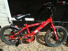 Childs Apollo Urchin bike / bicycle - 16 inch wheels suite 4 - 6 year old