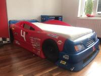 Boys Racing Car Bed, Wardrobe, Toy Chest and Chest Toddler and full singe 2-8 years