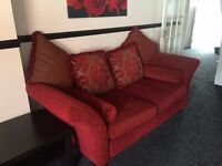 DFS SOFAS, 3 SEATER, 2 SEATER, 2 SEATER, RED, MINT, LOCATED IN BIRMINGHAM
