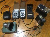 Job lot Cameras, Lenses and Light Meters
