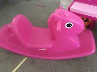 Little tikes pink rocking horse