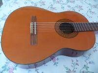 Classical acoustic guitar. Nylon strings.