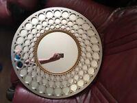 Circular ornamental mirror. Great condition