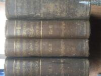 SCHAFF -HERZOG ENCYCLOPAEDIA OF RELIGIOUS KNOWLEDGE (1891) - 4 VOLUME SET - BANGOR - £100 -