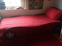 3' Red Car Bed Base - as new. Excellent condition.