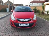 2012 Vauxhall Corsa 1.2i Active 5dr Red Full Series History