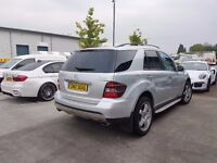 MERCEDES ML420 SPORT V8 CDI 4-MATIC 7G TRONIC SILVER LOW MILEAGE BARGAIN ML320 PX POSS RANGE ROVER