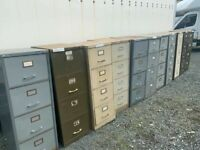 Retro vintage 4 drawer filing cabinet - large quantity