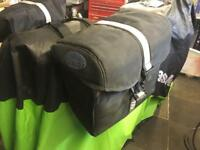 Takai Soft luggage panniers for motorcycle, easy fitment and removal, insulated, zipped and clipped