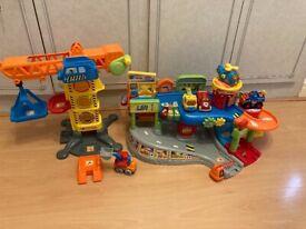 Toot toot drivers garage & construction set + 5 cars