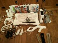 Nintendo Wii console bundle + 10 Games