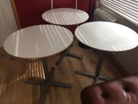 3 x Cafe Bistro style tables 70cm Diameter - FREE