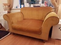 Designer gold love seat sofa