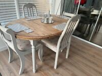 Shabby Chic Dining Table and 4 Chairs ONLY