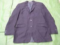 Navy Blue with Pinstripe Limehaus Designer Men's Jacket for £5.00
