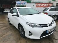 FINANCE £168 PR MONTH 2014 TOYOTA AURIS ICON+ CVT 1.6 PETROL AUTOMATIC, 40985 MILES SATNAV CAMERA