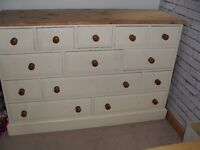 Pine Large chest of drawers/merchant chest/side board/tv unit - £120 **Collect from Romford, RM1**