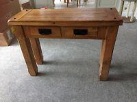 Oak Furnitureland Baku Natural Solid Mango Console Table