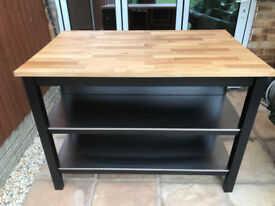 IKEA Kitchen Island STENSTORP Black-brown/Oak (403.230.22)