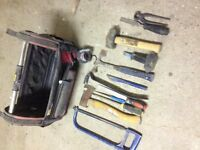 Stanley Fatmax tool bag with assorted tools