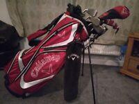 Complete Callaway Diablo Golf Set (13 piece set) & Callaway Shoulder Carry/Stand Bag