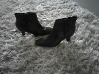 Ladies Black leather ankle boots NEW Size 7 still with price tag