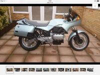 BMW motorcycle in good condition low miles for year.
