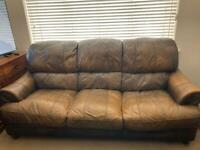 DFS Genuine Leather Sofas (3+2) & Armchair
