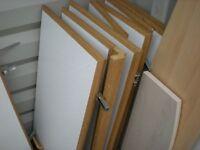 Kitchen cupboard doors and shelves