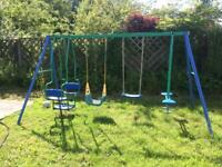 Garden swing set seesaw