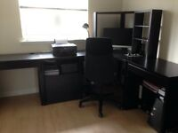 Ikea office furniture and chair