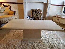 Marble effect coffee table in cream.