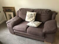 SOFA BROWN TWO SETTER AND FURNITURE