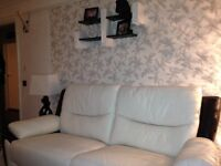Leather modern sofa SCS, electric recline on chair